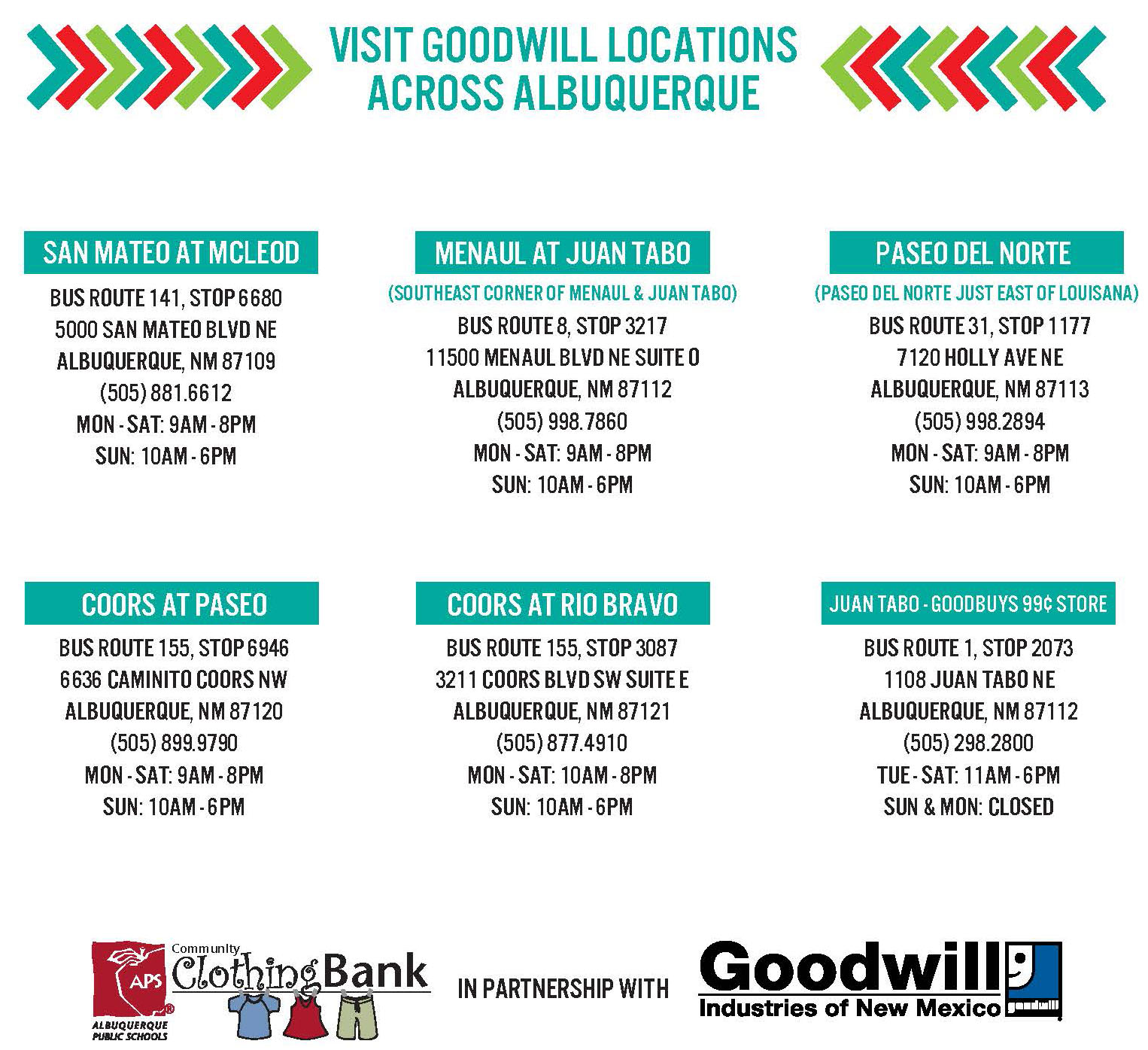 goodwil bus routes 2