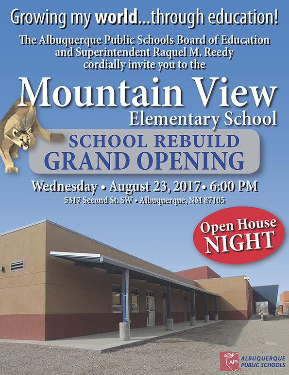 Mountain View Elementary School Grand Opening