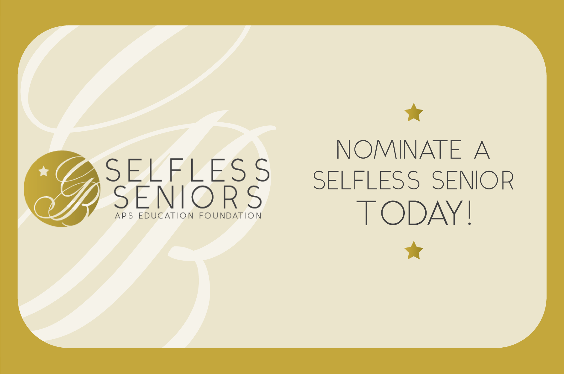 Nominate a Selfless Senior today!