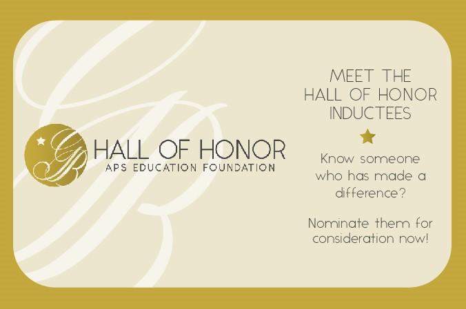 Hall of Honor Nomination Banner