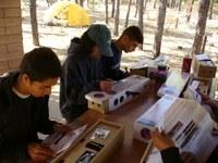 Students open Galileoscope Kits