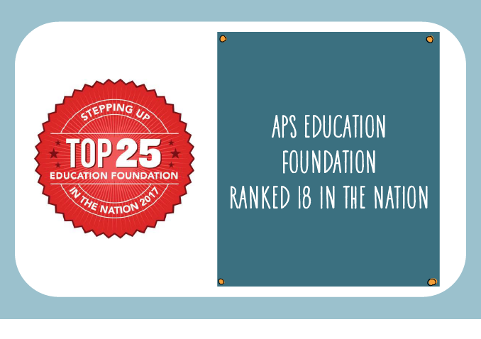 The APS Education Foundation has been ranked number 18 in the nation.