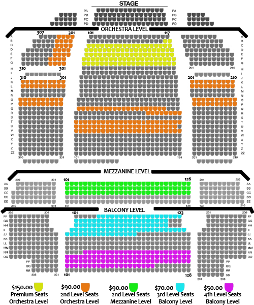 Popejoy hall seating chart images