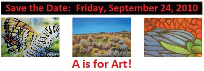 Save the Date for A is for Art