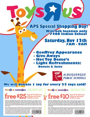 Toys r Us coupons for APS Day