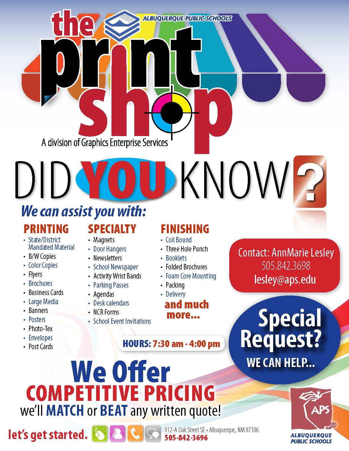 The print shop albuquerque public schools click image below for printable pdf reheart Image collections