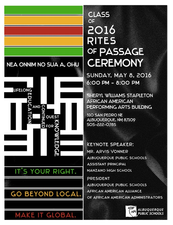 2016 Rites of Passage Ceremony