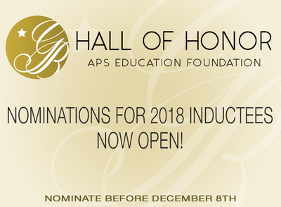 Hall of Honor Nominations 2018