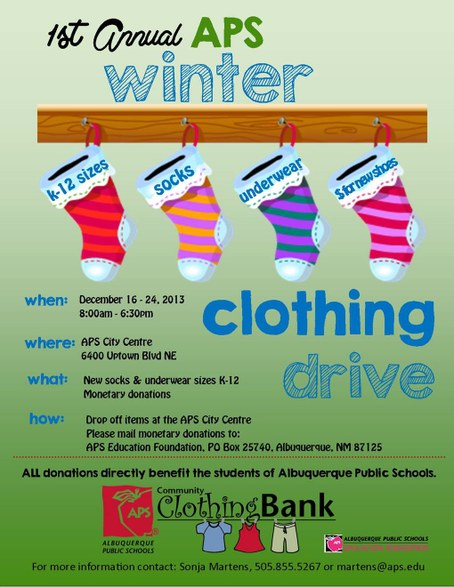 Clothing Drive 2013 APS