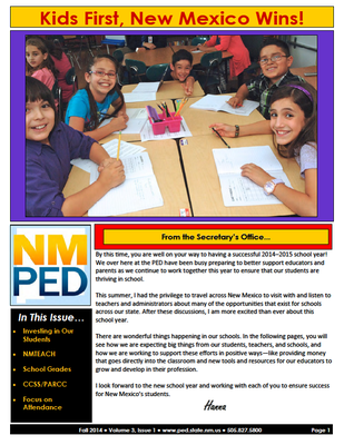 PED newsletter fall 2014