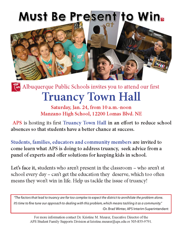 Truancy Town Hall Invite