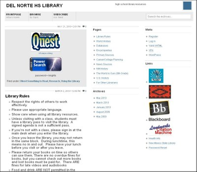 Del Norte Library Site