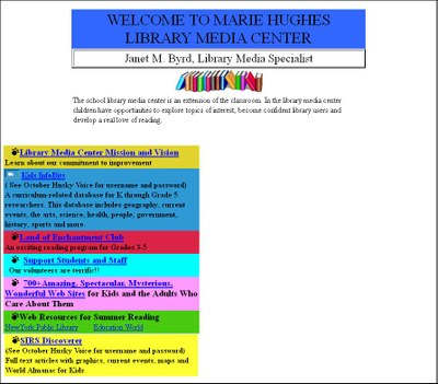 Marie Hughes Library Site