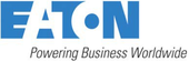 "EATON logo captioned, ""Powering Business Worldwide"""