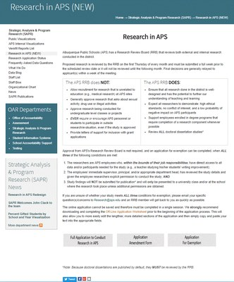 Research in APS Redesign Image