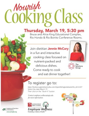 Cooking Class 3-15