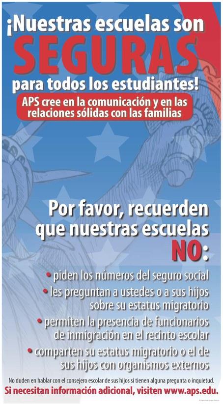 Safe Poster Spanish