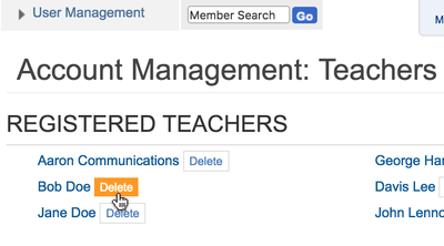 activate teachers - delete