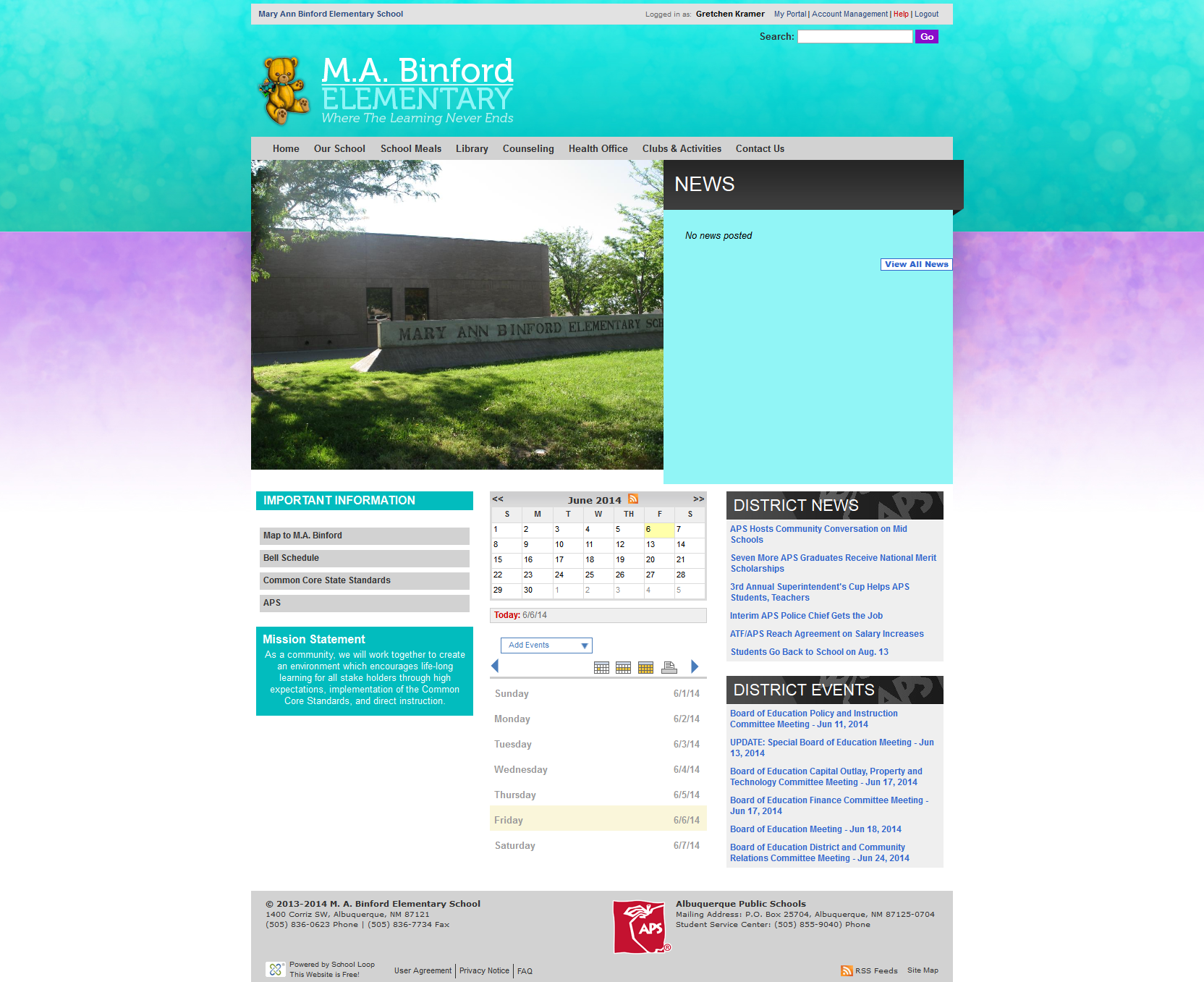 M.A. Binford Website Launched