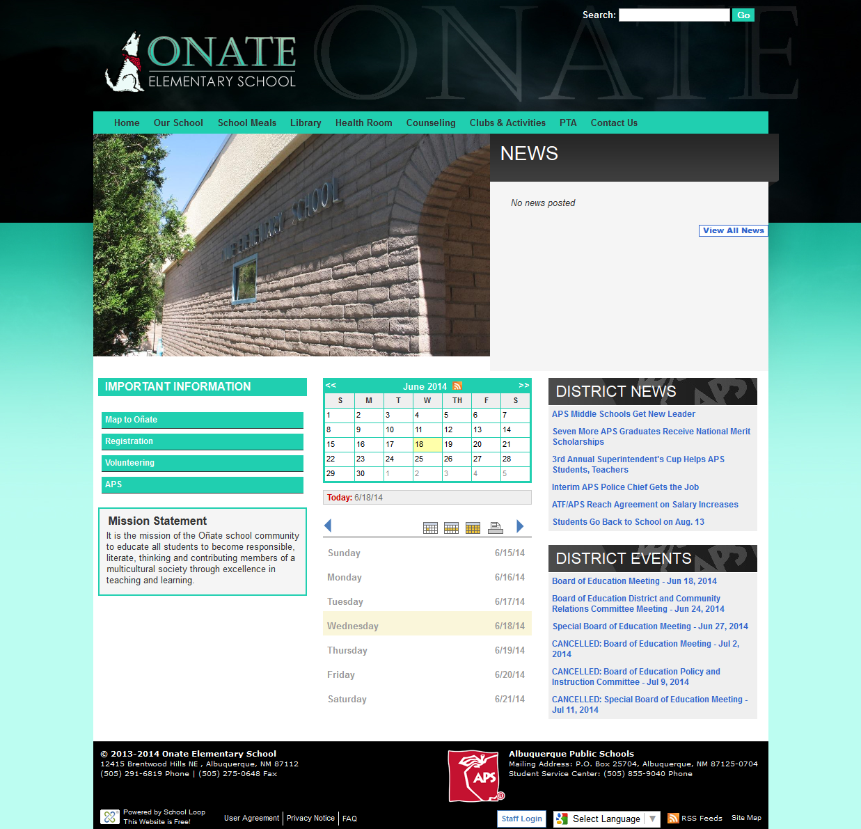 Oñate Website Launched