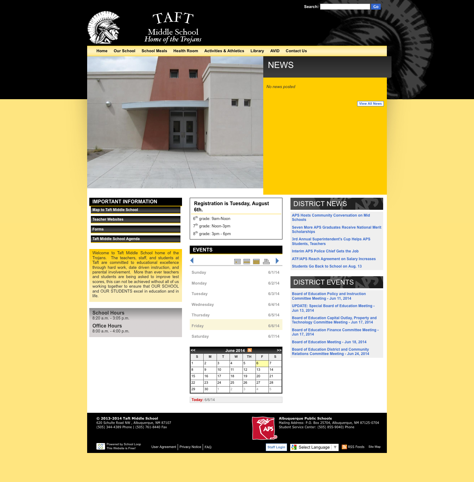 Taft Website Launched