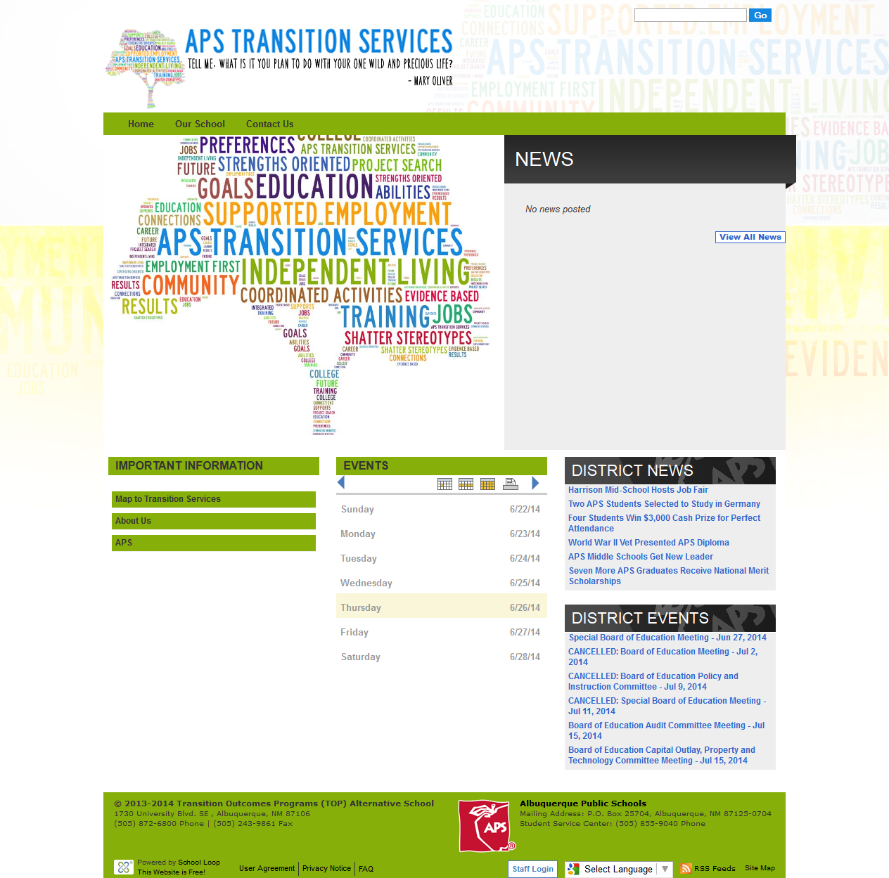 Transition Services Website Launched
