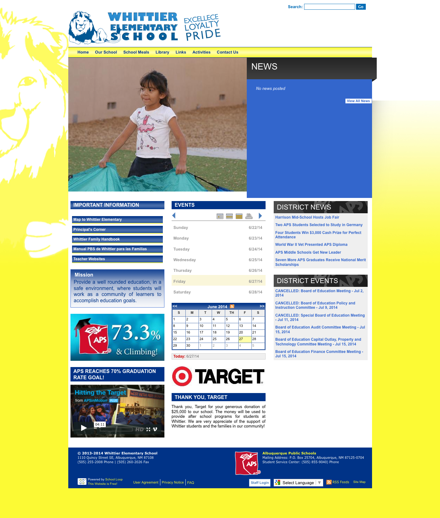 Whittier Website Launched